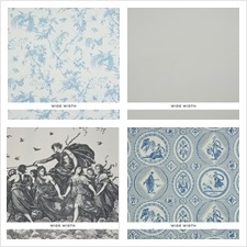 Schumacher Wallcovering Collection Lasersohn Toile