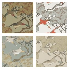 Mulberry Home Wallcovering Pattern Flying Ducks