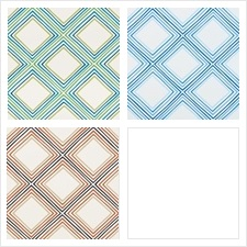 Schumacher Wallcovering Pattern Square Dance