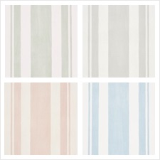 Schumacher Wallcovering Pattern Villa Stripe