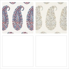 Schumacher Wallcovering Pattern Shirala Paisley