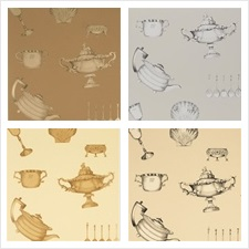 Mulberry Home Wallcovering Pattern Family Silver