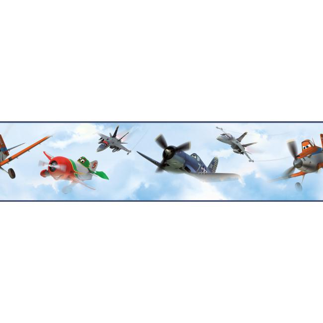 Ds7718bd Walt Disney Kids Ii Planes In The Clouds Border By York