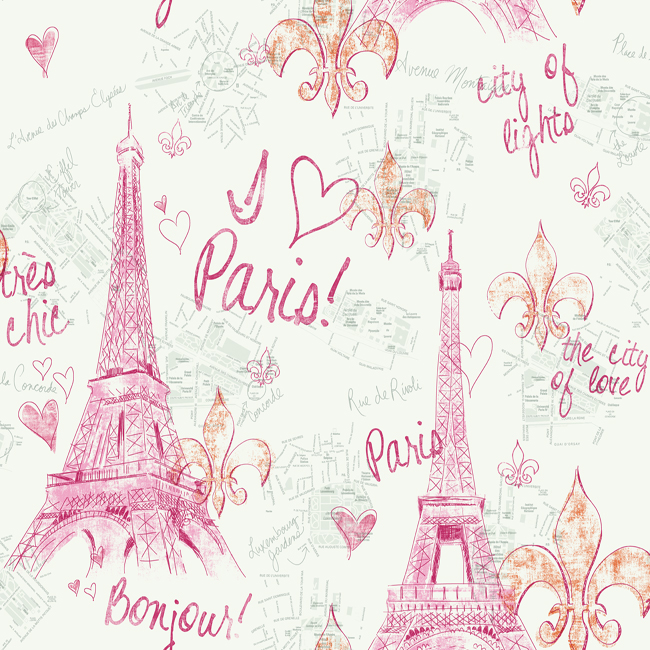 Pw3910 Girl Power 2 Paris Wallpaper By York