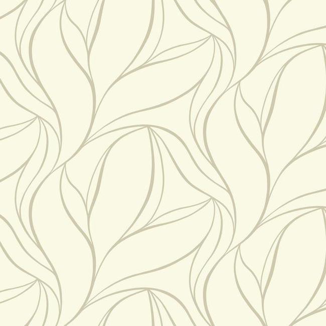 SL5698 Silver Leaf II Aubrey Wallpaper By York