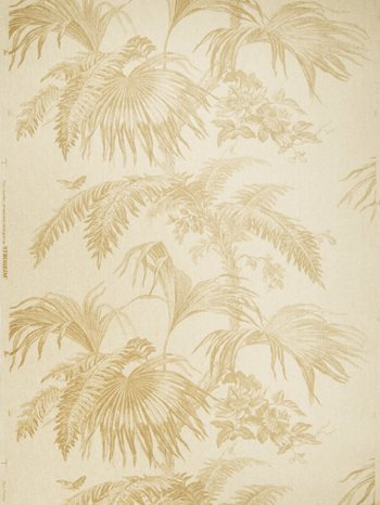 0657701 Palm Garden Paperw Pecan On Natural by Stroheim