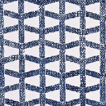 2061 Lattice Navy On White Japanese Paperweave by Phillip Jeffries