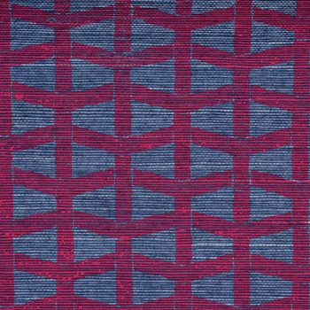 2064 Lattice Magenta On Peacock Manila Hemp by Phillip Jeffries