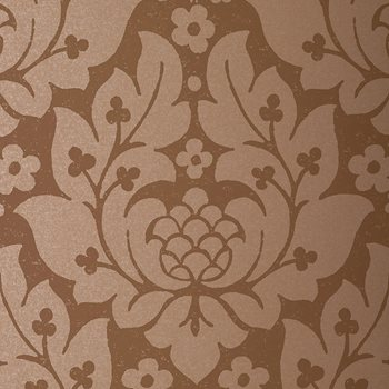 5003673 Fiore Damask Mocha by Schumacher