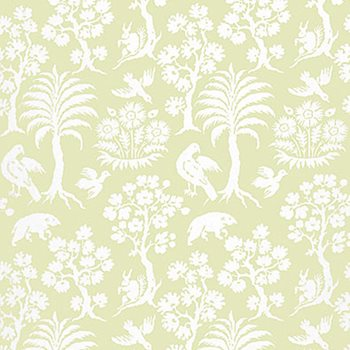 5004352 Palm Damask Willow by Schumacher