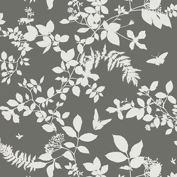 5005103 Shadow Vine Charcoal by Schumacher