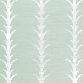 5006053 Acanthus Stripe Seaglass & Chalk by Schumacher