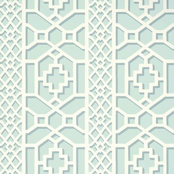 5006942 Zanzibar Trellis Winter Mint by Schumacher