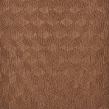 5009631 Chevron Inlay Walnut by Schumacher