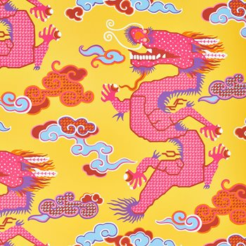 5010601 Magical Ming Dragon Yellow by Schumacher