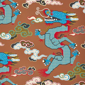 5010602 Magical Ming Dragon Brown by Schumacher