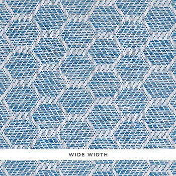 5011282 Abaco Paperweave Blue by Schumacher