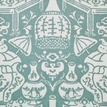 6801 17 The Vase Teal By Clarence House