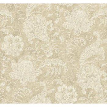 922752 Beige Book Lacy Jacobean Wallpaper By York