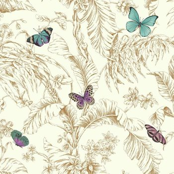 AF2028 Ashford Toiles Papillon Wallpaper by York