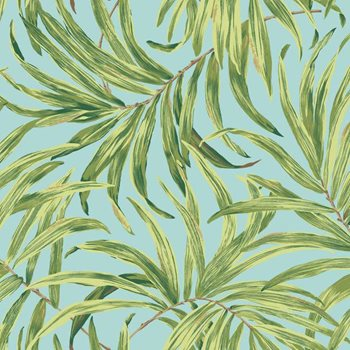 AT7053 Tropics Bali Leaves Wallpaper by York