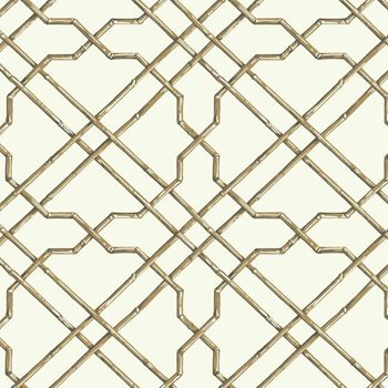 AT7074 Tropics Bamboo Trellis Wallpaper by York