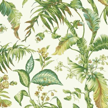 AT7091 Tropics Fiji Garden Wallpaper by York