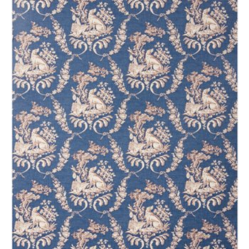 BR-69519.244 The Hunting Toile Oxford Blue by Brunschwig & Fils