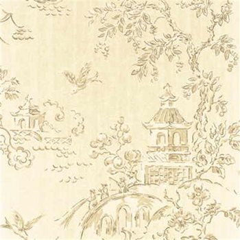 BW45010.5 Chinese Bridges Taupe/Silver by G P & J Baker