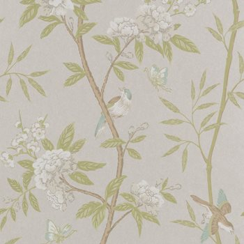 BW45066.4 Peony & Blossom Ivory/Willow by G P & J Baker
