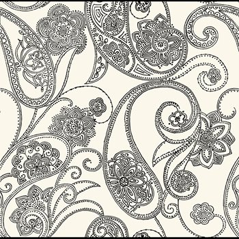Co2027de Candice Olson Shimmering Details Dotted Paisley Wallpaper By York