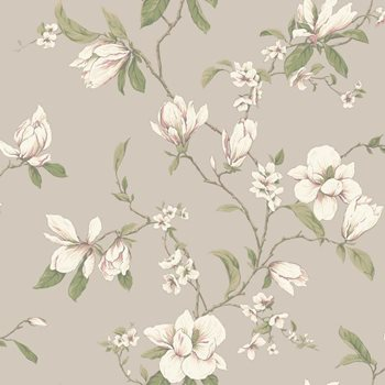 CT0825 Callaway Cottage Magnolia Branch Wallpaper by York