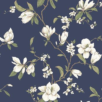 CT0827 Callaway Cottage Magnolia Branch Wallpaper by York