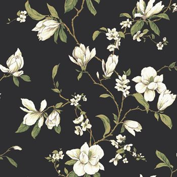 CT0828 Callaway Cottage Magnolia Branch Wallpaper by York