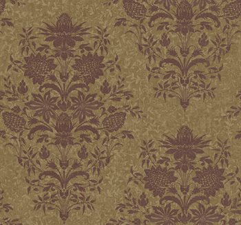 DC1376 Georgetown Iridescent Small Scrolling Vine Wallpaper by York