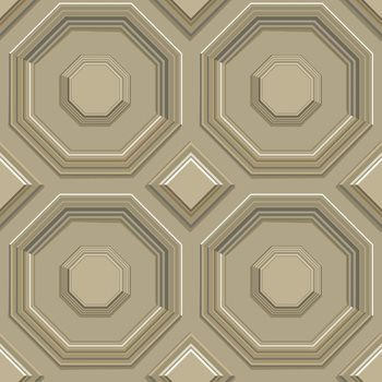 DI4741 Coffered Octagon by York