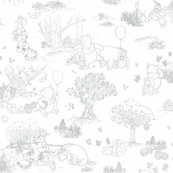 DY0224 Disney Pooh & Friends Sidewall by York