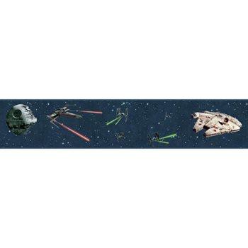 Dy0293bd Star Wars Classic Ships Wallpaper Border By York