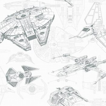 Dy0305 Star Wars Ship Schematic Wallpaper By York