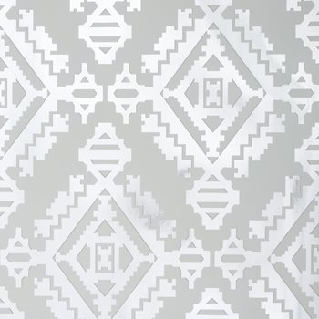 GWP-3408.111 Navajo Foil Silver by Groundworks
