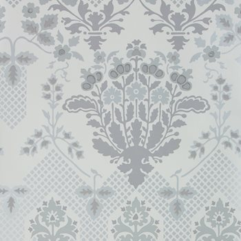 GWP-3409.11 Drummond Damask Silver by Groundworks