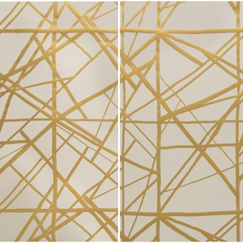 GWP-3417.424 Channels Paper Copper/Beige by Groundworks
