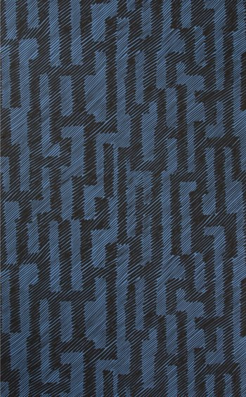 GWP-3702.58 Verge Paper Ebony/Cobalt by Groundworks