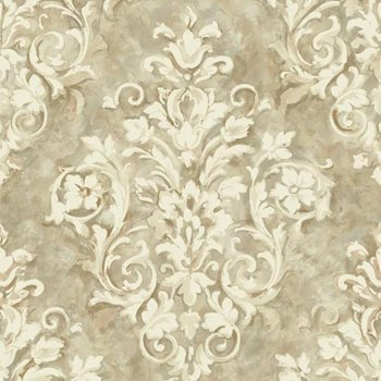 HP0368 Handpainted III Painterly Damask Wallpaper by York