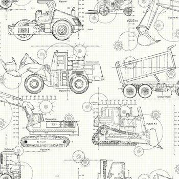 Ks2349 cool kids construction blueprint wallpaper by york malvernweather Gallery