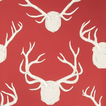 P2017102.19 Antlers Paper Red by Lee Jofa