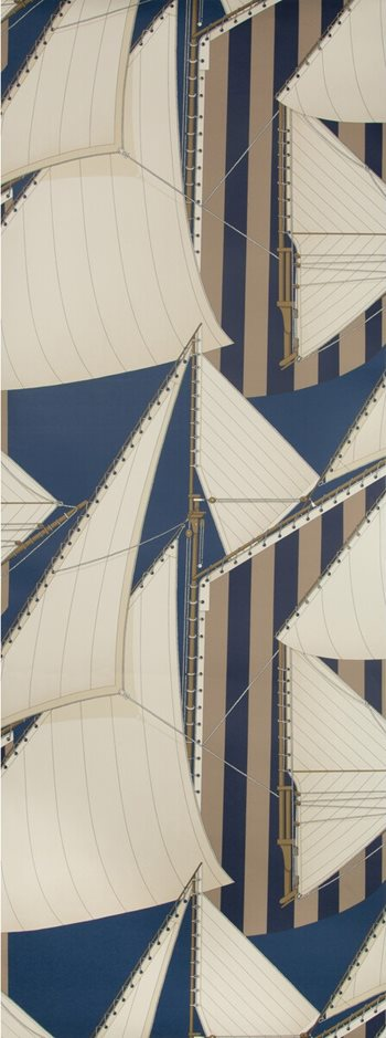 P2018109.505 St Tropez Wp Navy/Marine by Lee Jofa