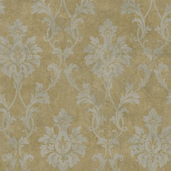 PN714316 Brown Pineapple Damask by Brewster