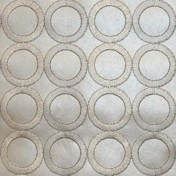 SN1380 Dream On Embroidered Circles Wallpaper by York