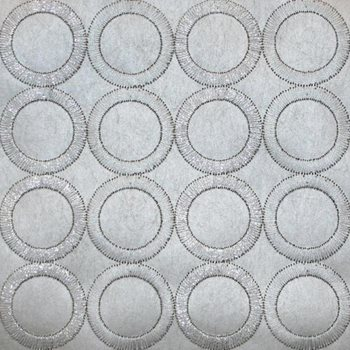 SN1381 Dream On Embroidered Circles Wallpaper by York